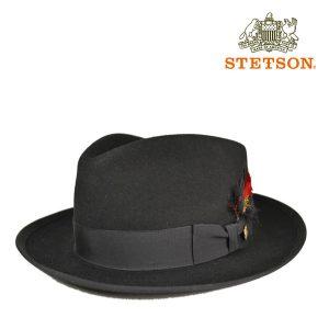 ステットソン・羽根つき中折れフェドラハットWHIPPET