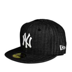 ニューエラ・59FIFTY デニムヘリンボーン・キャップ・ニューヨークヤンキース/NEW ERA