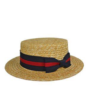 麦わらブレード・ボーターハット・カンカン帽