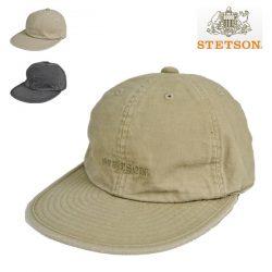 ステットソン・オーバーダイコットン6方キャップ/STETSON