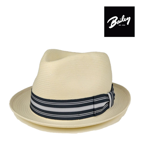 ベイリー・ホワイトストローハットTharp・ブリム5cm/Bailey