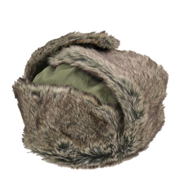 ニューエラ・トラッパー・RIPSTOP・耳当て付きパイロット帽・オリーブ/NEW ERA
