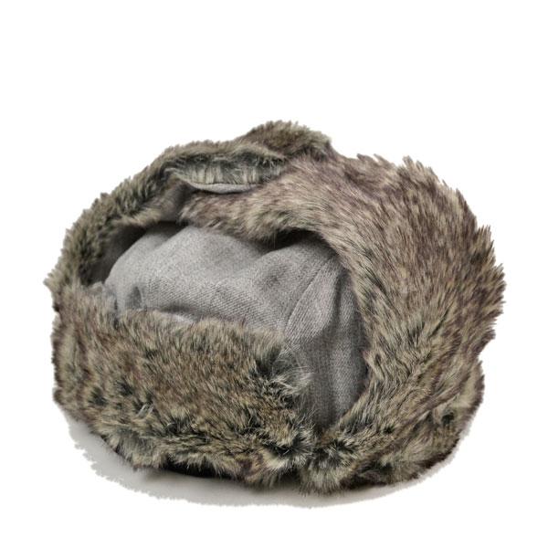ニューエラ・トラッパー・HEATHER・耳当て付きパイロット帽・グレー/NEW ERA